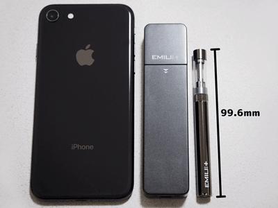エミリミニプラスとiPhoneのサイズ比較